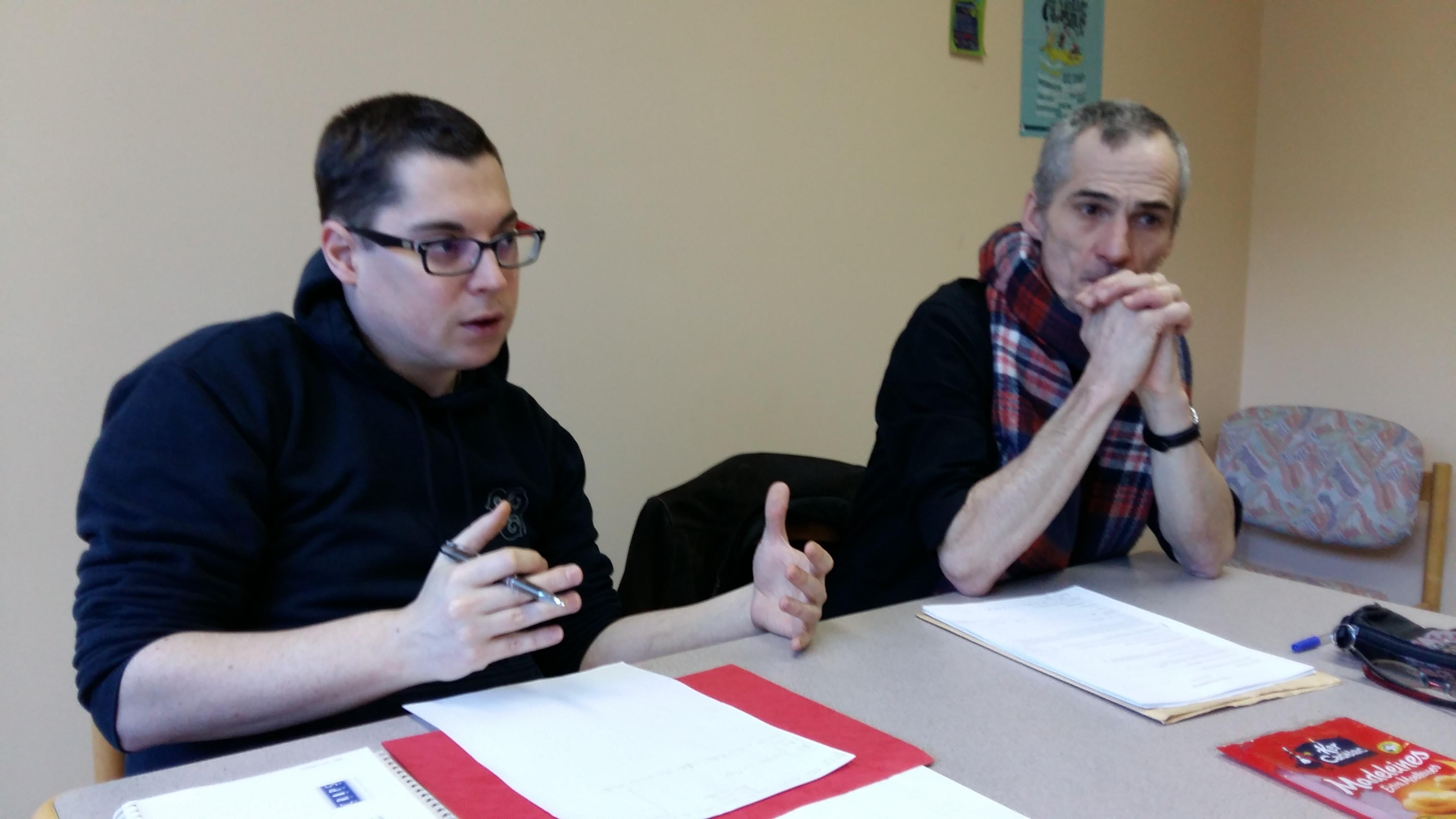 Pierre-Yves BASTARD de l'association ANDBRAIZ et Hervé PEILLON lors de la dernière réunion de travail