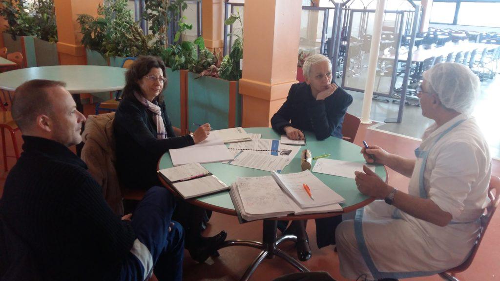 Bruno MILLION, Y.LE MONTREER, M.QUELEN et D.LE MARREC lors de la réunion préparatoire.